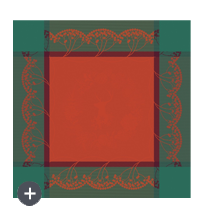 serviette christmas forest red