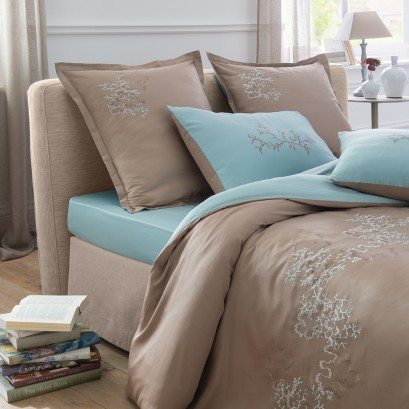 aqua coral taupe. Black Bedroom Furniture Sets. Home Design Ideas